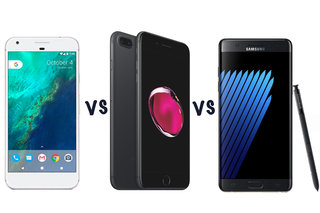 Google Pixel XL vs Apple iPhone 7 Plus vs Samsung Galaxy Note 7: What's the difference?