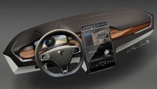 tesla model x suv goes back to the future image 5