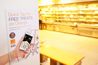 orange partners with eat for nfc quick tap treats image 5