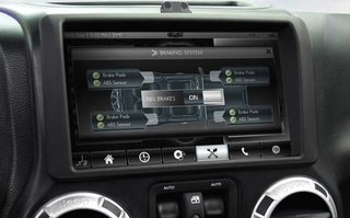 jeep wrangler with futuristic dashboard courtesy of rim owned qnx shown off image 4