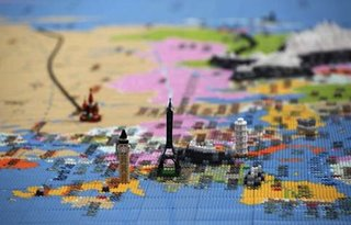 lego map of the world completed outside southbank centre image 3