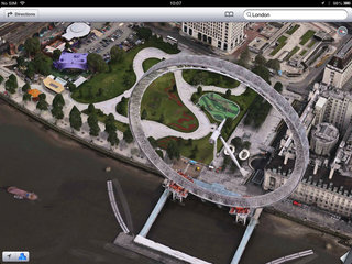 apple maps london easter eggs show the london halo olympics and samsung advert image 2