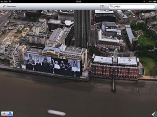 apple maps london easter eggs show the london halo olympics and samsung advert image 3