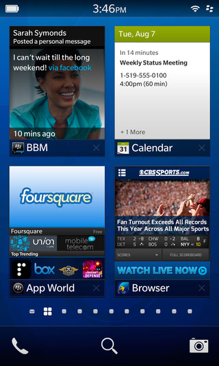blackberry 10 detailed flow peek and hub the new buzz words image 4