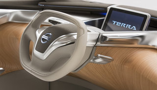 nissan terra concept car comes with removable tablet device for a dashboard image 2