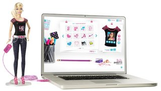 barbie photo fashion doll has hidden camera and lcd t shirt display image 5