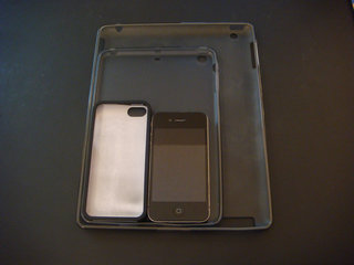 iphone 5 and ipad mini cases show sizes in comparison to iphone 4s and ipad image 2