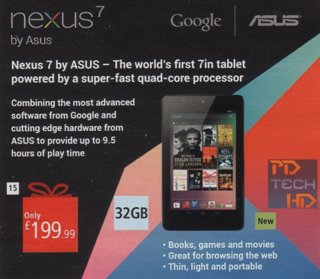argos to sell 32gb google nexus 7 for 199 99 that s just 99p more than the 16gb version image 2