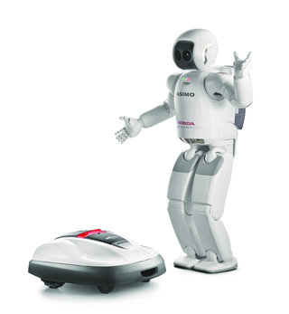 asimo creator honda releases first commercial robotic product in the shape of miimo lawnmower image 2