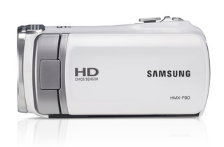 samsung hmx f90 5 megapixel camcorder a bit of all white image 3
