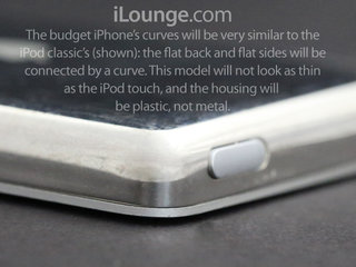 budget iphone design to be a cross between iphone and ipod with plenty of plastic image 2