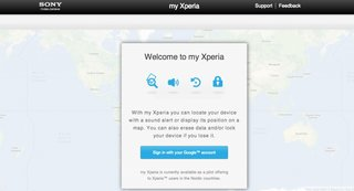 sony my xperia will help find your lost xperia handset image 2