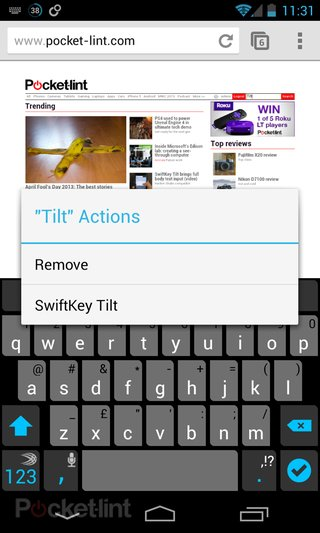 swiftkey tilt brings full body text input might make you look a fool video  image 2
