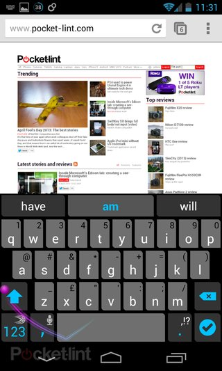 swiftkey tilt brings full body text input might make you look a fool video  image 3