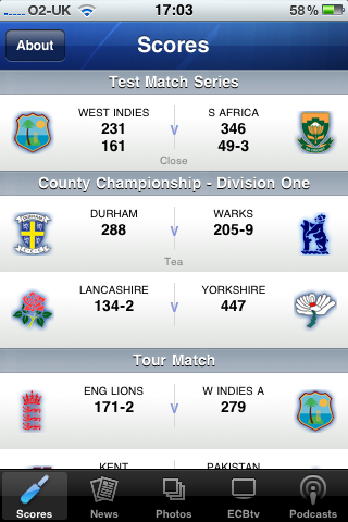 app of the day ecb cricket iphone image 5
