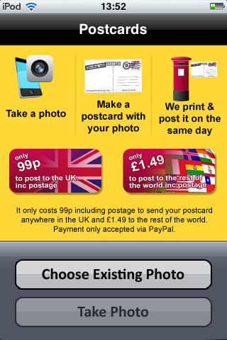 app of the day postcards iphone android  image 4