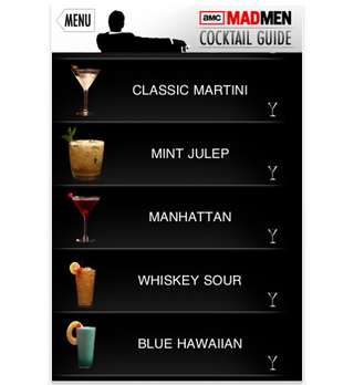 app of the day mad men cocktail culture iphone  image 2