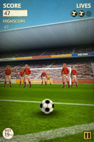 app of the day flick kick football iphone  image 2