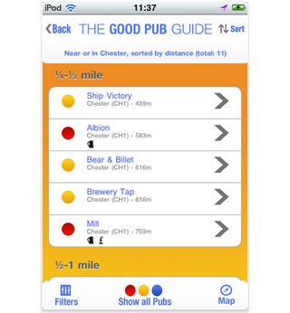app of the day the good pub guide 2011 iphone  image 2