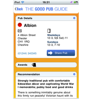 app of the day the good pub guide 2011 iphone  image 3