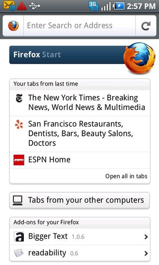 app of the day firefox 4 for mobile review android  image 3