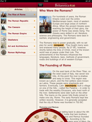 app of the day britannica kids ancient rome review ipad  image 2