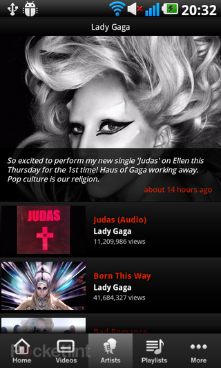 app of the day vevo review android  image 4
