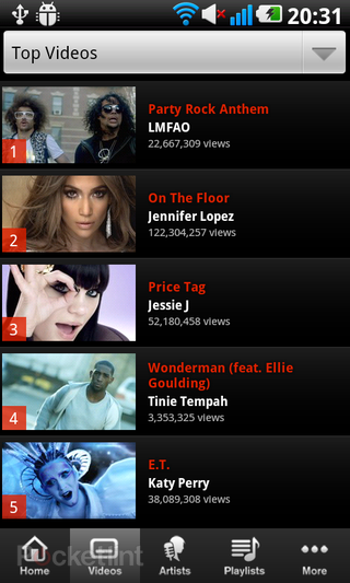 app of the day vevo review android  image 6