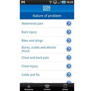 app of the day nhs direct android image 3