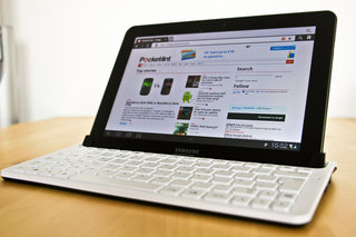 samsung galaxy tab 10 1 keyboard dock hands on image 13