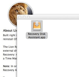 how to create an apple mac os x lion recovery disk image 2