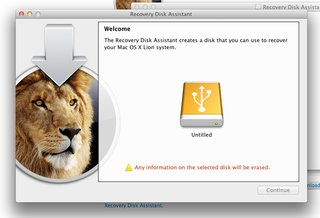 how to create an apple mac os x lion recovery disk image 5