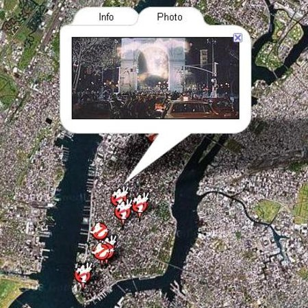 WEBSITE OF THE DAY - Ghostbusters map