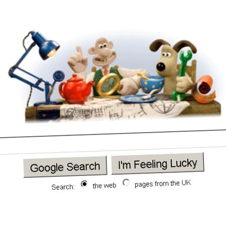 Google doodle celebrates Wallace & Gromit's birthday