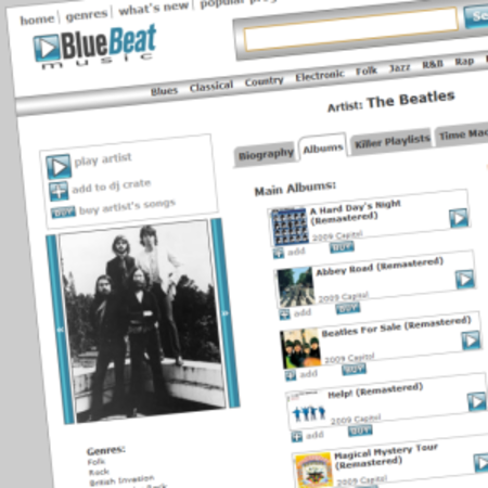 BlueBeat claims it owns copyright in Beatles tracks