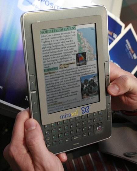 Mirasol shows off colour E-reader displays