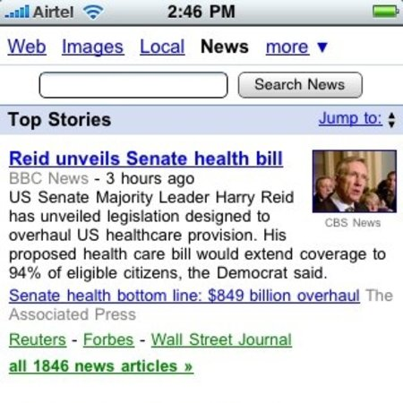 Google News gets updated for iPhone, Android and Pre