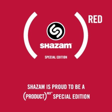 Shazam goes PRODUCT RED