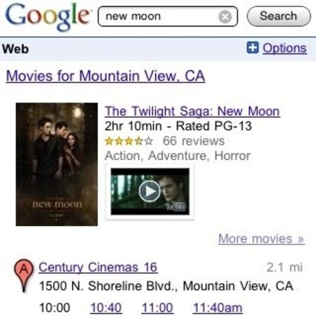 VIDEO: Google Mobile offers movie search