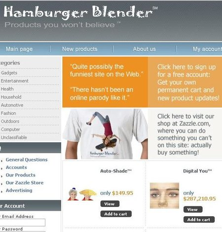 WEBSITE OF THE DAY - Hamburger Blender