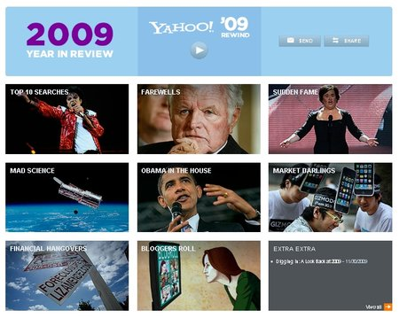 """Yahoo unveils 2009 """"Year in Review"""""""