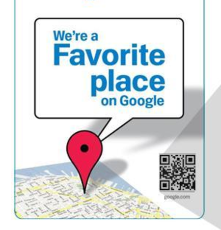 Google offers shops QR code sticker