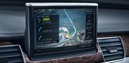 Audi A8 gets Google Earth navigation