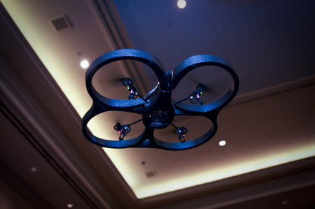 Parrot AR Drone turns iPhone into remote control Augmented Reality quadricopter remote