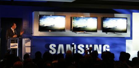 Samsung unveils high-end 3DTVS