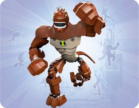 Ben 10 Lego aliens burst into a toy shop near you
