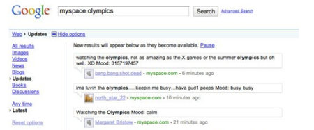 MySpace search now live on Google