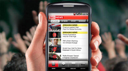 Sky News app hits Android
