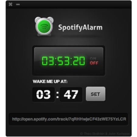 Spotify gets alarm clock application