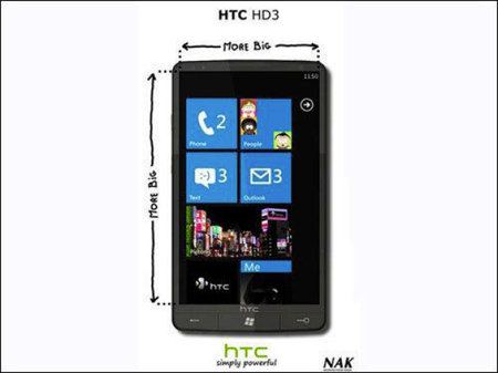 HTC HD3: HTC's Windows Phone 7 Series offering?